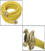 Hoses with claw coupling