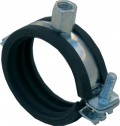 CADDY Pipe Clamps Steel - heavy version - with EPDM-Liner