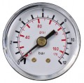 "Manometer ø40mm - 0-12 bar - 1.6 - R1/8"" horizontal"